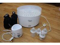 Tommee Tippee steriliser and bottle warmer essential starter kit, and food blender