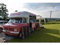 Mobile bar business - 1973 Bedford CF ice cream van converted into mobile bar