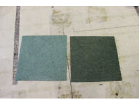 300 plus carpet tiles - shades of green - second hand - good condition