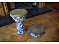 Handmade Tabla and Tambourine