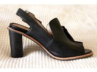 Clarks Leather Slingback Heel Sandals - Size 4 - Used Once - Comfortable