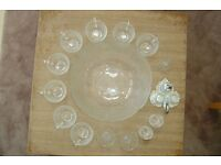 Arcoroc Punch Bowl / cups + extras
