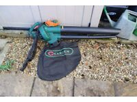 Garden leaf blower /vac ,good condition powerful 2400w motor 35 litre collection bag .Used 3 times .