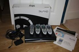 Sky+ HD Digital PVR 250Gb and Sky MINI SD501 Wireless Connector Box.