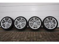 "Genuine BMW 18"" MV3 M Sport Alloy wheels & tyres"