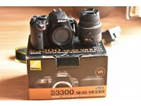 Nikon D3300 Digital SLR 24.2MP 1080P Camera with 18-55mm VR II Lens