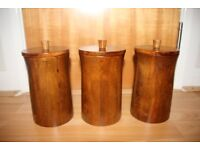 Wooden Tea Sugar Coffee Canister / Containers