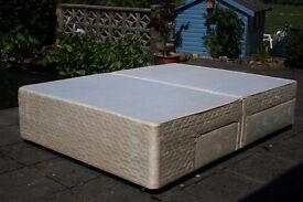 4 drawer double divan sprung top bed base 4ft 6 slumberland divan base with 4 drawers