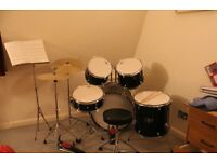 Seven Piece Drum Kit Suitable For Beginner / Intermediate. Excellent Condition. Includes Extras.