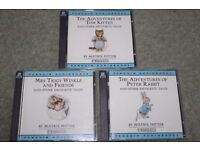 3 x BEATRIX POTTER PETER RABBIT Penguin Audiobooks (6 CDs) CARL DAVIS soundtrack music RARE
