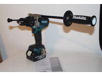new makita 18v brushless dhp481z combidrill + 4ah starred battery. hammer drill dhp481 + bl1840
