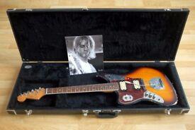 Kurt Cobain Signature Fender Jaguar replica, Left Handed Electric Guitar with Hardshell Case