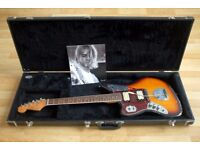 Kurt Cobain Signature Fender Jaguar replica, Left Handed Electric Guitar with Hardshell Case
