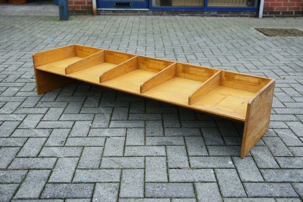 Vintage Solid Oak Desk Tidy Tray