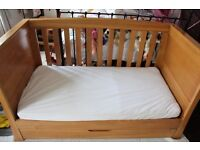 Mamas and Papas Golden Oak Ocean Cot Bed