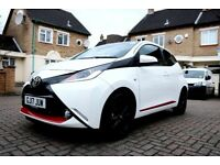 TOYOTA AYGO 1.0 VVT-i x-press x-shift 5dr RED EDITION AUTOMATIC TOP SPEC 1 OWNER FROM NEW