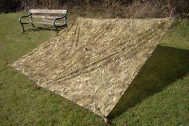 NEW - Genuine British Army Issued MTP BASHA / Shelter / Tarp