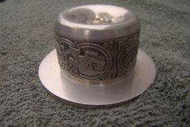 Irish Celtic Pewter Candle Stick Holder (Very Decorative) Hallmarked as 'Mullingar Pewter'