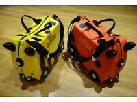 Trunki ride on suitcases: Bernard Bee and Harley Ladybird very good condition