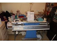 Brother KH840 Knitting Machine with ribber.