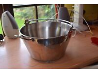 Large stainless steel preserving pan