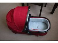 Berry Red Mothercare Orb Carrycot/Seat Unit