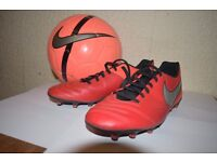 FOOTBALL AND BOOTS, used once