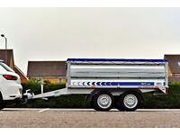 Car Trailer 2,61 m x 1,44 m ( 8'7 x 4'4 ) Twin Axle 750 kg Extra Sides