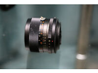 Photax Paragon 28mm F2.8 manual lens with optional Canon EOS adapter