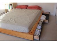 King size bed with large storage drawers
