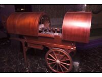 Large Classic Cart wooden Mobile Bar