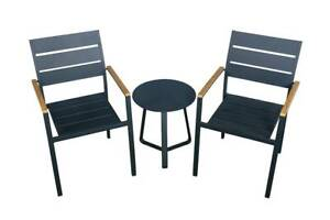 OUTDOOR BALCONY SETTING HARBOUR 3 PIECE CHARCOAL