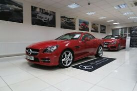MERCEDES-BENZ SLK 2.1 SLK250 CDI BlueEFFICIENCY AMG Sport 7G-Tronic Plus (s/s) 2dr Auto (red) 2014