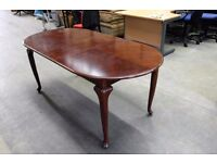 Vintage Mahogany Wood Extending Dining Table