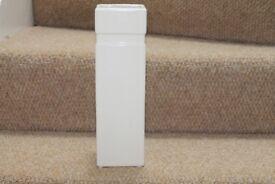 cream/beige ceramic square shaped vase ceramic vase approx 30cm tall