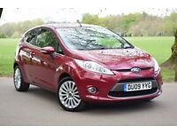 2009 NEW SHAPE FORD FIESTA TITANIUM 1.4 RED*CRUISE*PARKING SENSORS*WARRANTY*HIGH SPEC*TINTED*