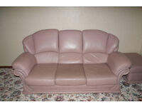 Quality leather 3 piece suite