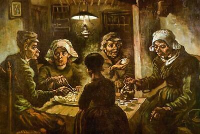 Vincent Van Gogh The Potato Eaters (Vincent van Gogh The Potato Eaters - Poster 24x36)