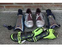 FOOTBALL BOOTS AND SHINGUARDS