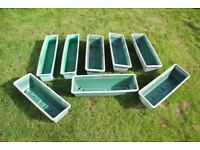 PLANT TROUGHS – Poly – Green in Good Condition