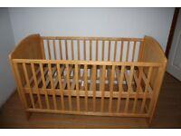 babylo cot-bed including mamas&papas mattress etc....