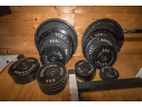 Olympic metal weight plates 165kg in total