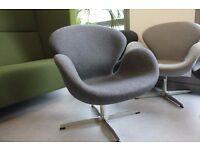 Charcoal swan chairs