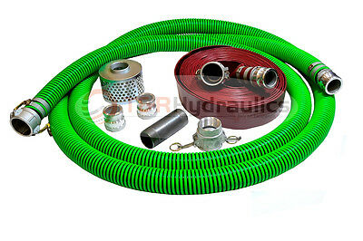 2 Epdm Water Suction Hose Honda Complete Kit W100 Red Discharge Hose