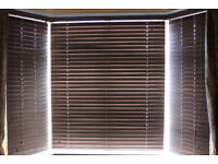 Set of 3 Hillarys Wooden Venetian Blinds Suitable for Bay Window