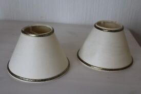 Pair of wall light lamp shades