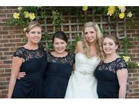 3 x navy blue bridesmaid dresses - sizes 10 and 14