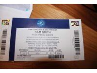 Sam Smith ticket for sale