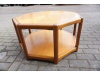 Stunning Danish Teak Octagonal Coffee Table FREE DELIVERY CENTRAL EDINBURGH