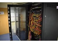 Server Cabinets and Fibre Optic Network Switches UPS Battery Back Ups